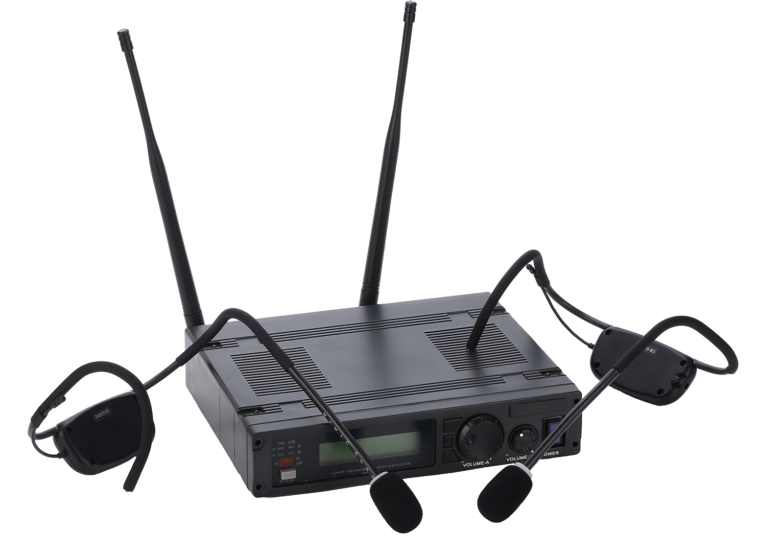 water-resistant-cordless-cableless-dual-headset-transmitter-wireless-microphone-system-fsw-2000h